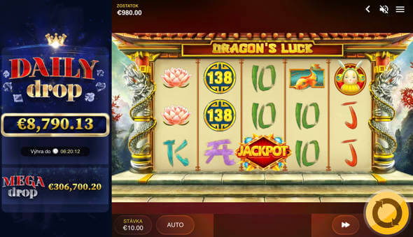 Dragons's Luck jackpotové hry