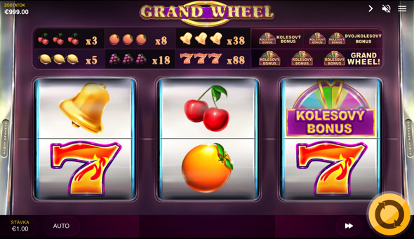 Grand Wheel casino automat od Red Tiger Gaming